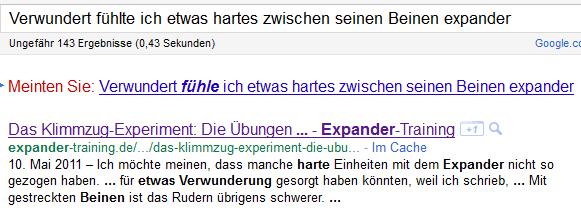 Etwas Hartes bei Google